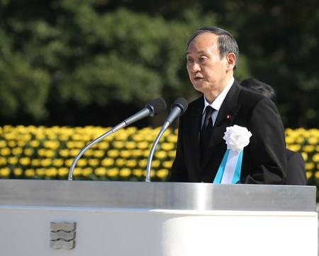 菅首相の原稿読み飛ばしの原因は脳梗塞?呂律もヤバい?広島平和記念式典